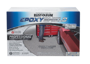 Rust-Oleum EpoxyShield Semi-Gloss Silver Gray Solvent-Based Epoxy Floor Coating Kit 256 oz.