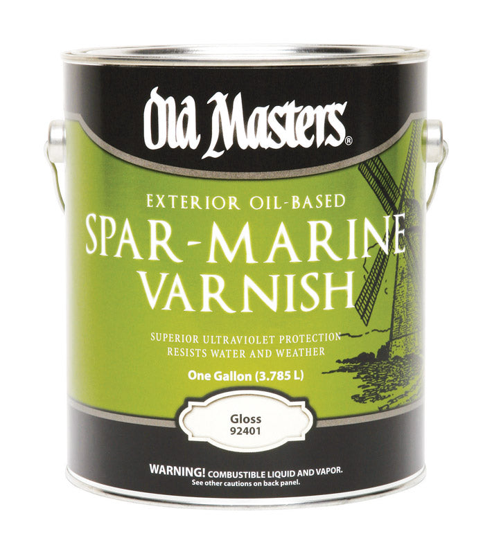 Old Masters Gloss Clear Oil-Based Marine Spar Varnish