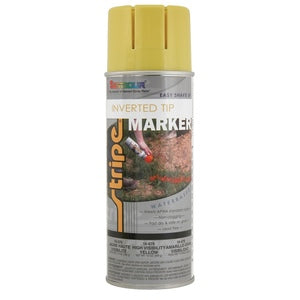 Stripe Water Based Marking Paint- Inverted Tip - Hi Viz Yellow