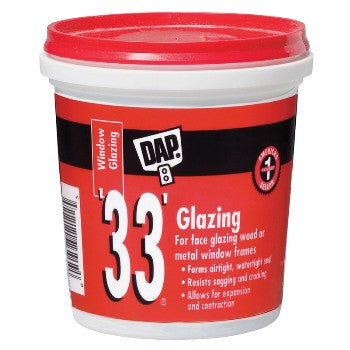Dap 12120 .5 Pint 33 Glazing Compound White Half Pint