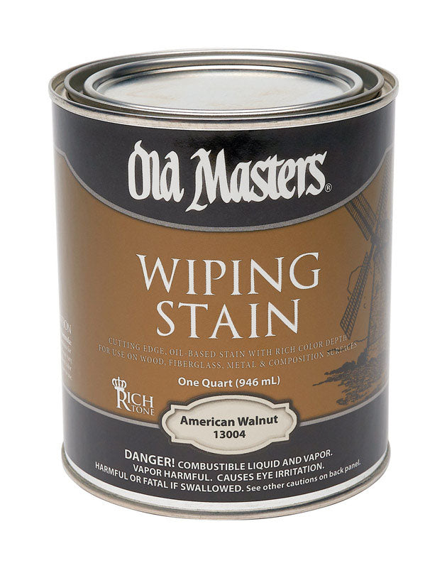 Old Masters Semi-Transparent American Walnut Oil-Based Wiping Stain 1 qt.