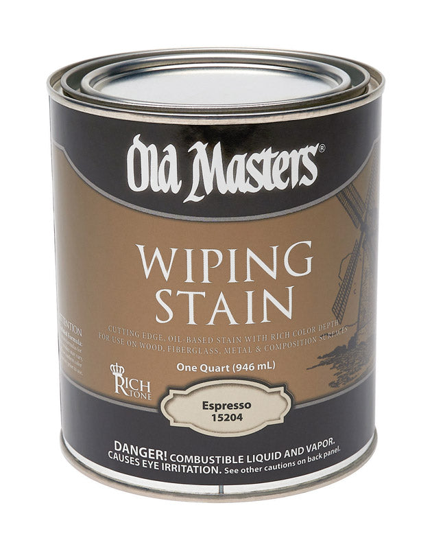 Old Masters Semi-Transparent Espresso Oil-Based Wiping Stain 1 qt.