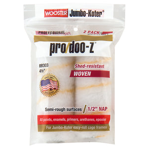 Wooster Pro/Doo-Z Fabric 1/2 in. x 4-1/2 in. W Mini Paint Roller Cover 2 pk