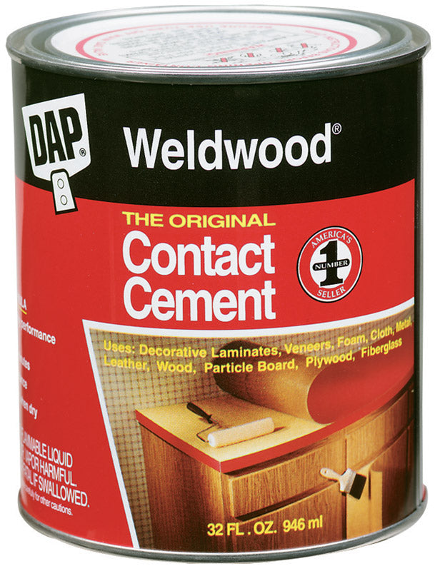 DAP Weldwood High Strength Rubber Contact Cement 1 qt