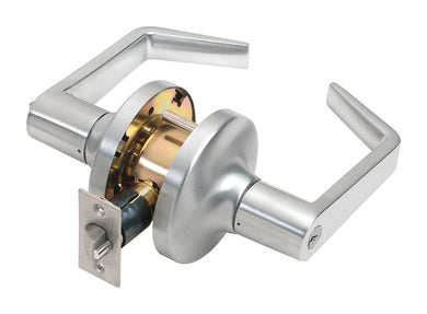 Tell Cortland Satin Chrome Entry Lockset ANSI Grade 2 2 in.