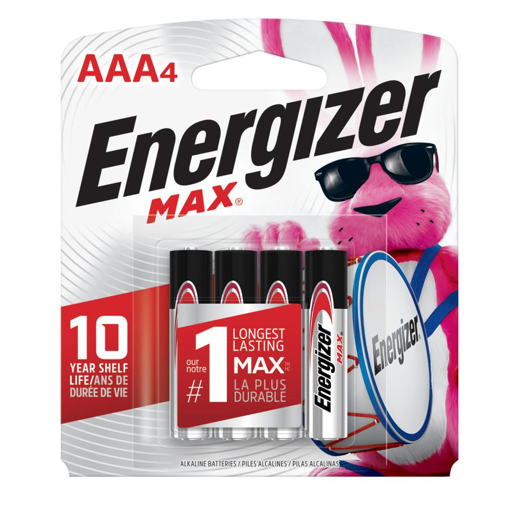 Energizer Max AAA Alkaline Battery, 4 count
