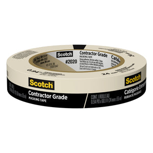 Scotch Contractor Grade .94 in. W x 60.1 yd. L Beige Medium Strength Masking Tape 1 pk
