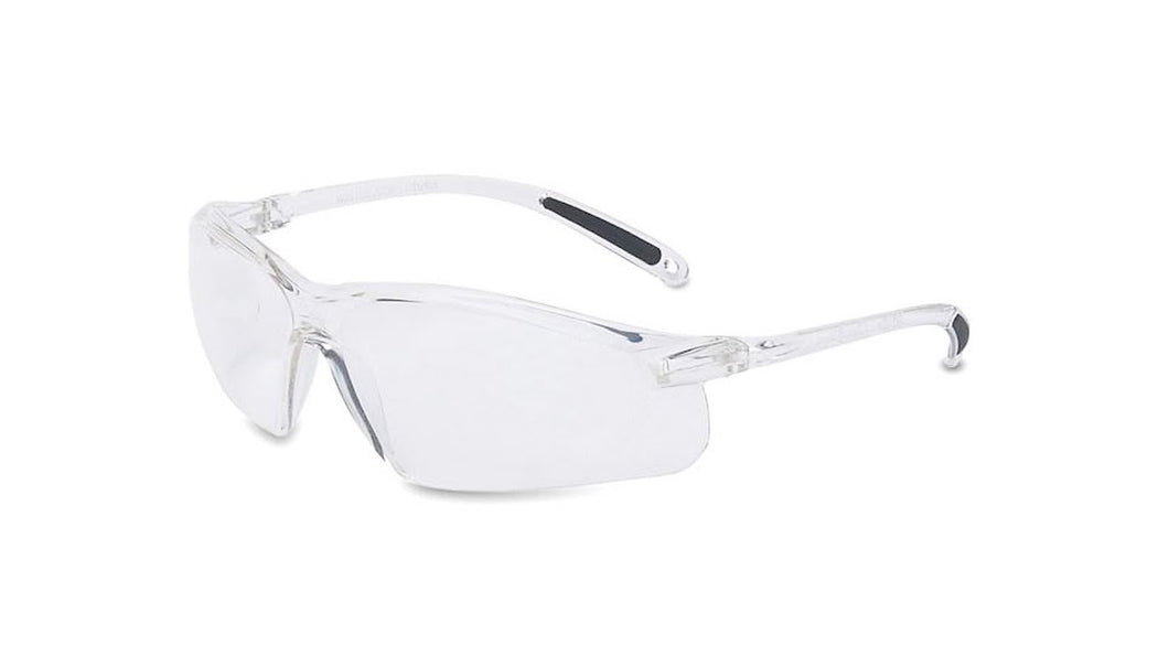 Honeywell RWS-51033 A700 Clear Frame Clear Lens Wrap Around Safety Glasses