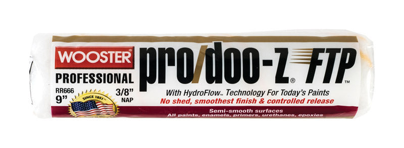 Wooster Pro/Doo-Z FTP Synthetic Blend 9 in. W x 3/8 in. Paint Roller Cover 1 pk