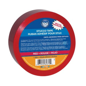 Red Polyethylene Stucco Tape 2