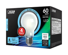 Carregar imagem no visualizador da galeria, FEIT Electric A19 E26 (Medium) LED Bulb Daylight 60 Watt Equivalence 4 pk