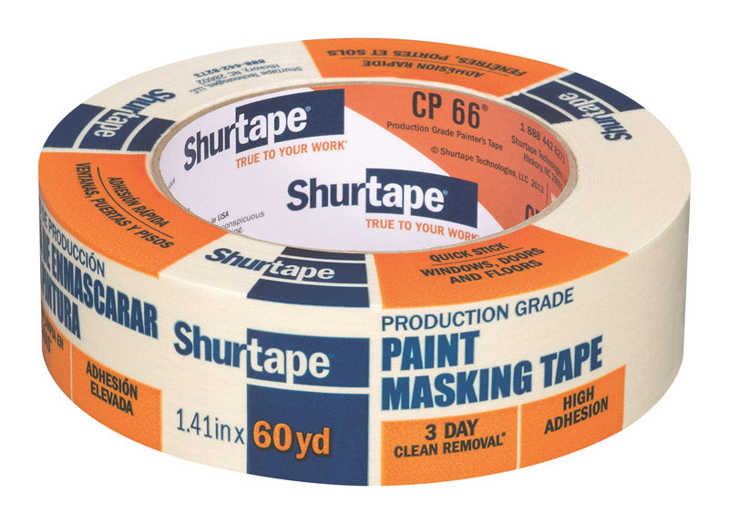 Shurtape 1.41 in. W x 60 yd. L Tan High Strength Masking Tape 1 pk