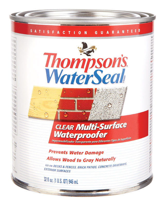 Thompson's Waterseal Clear Water-Based Multi-Surface Waterproofer 1 qt.