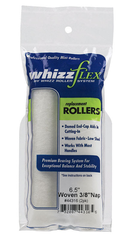 Whizz Woven 3/8 in. x 6.5 in. W Mini Paint Roller Cover 2 pk