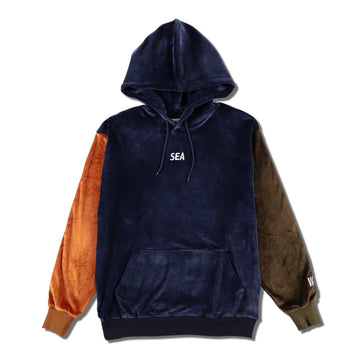 VELOUR HOODIE / NAVY (19A-SW-07)