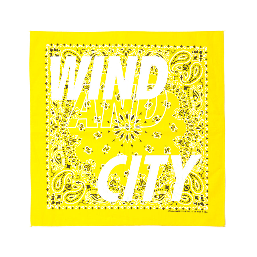 CITY SHOP BANDANA / YELLOW (AC-17)