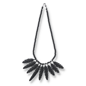 WDS Feather Necklace / BLACK (AC-NK-01)