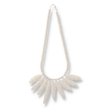 WDS Feather Necklace / SAND (AC-NK-01)