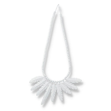 WDS Feather Necklace / WHITE (AC-NK-01)