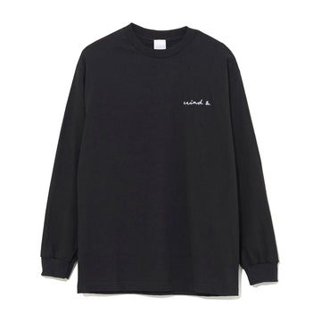 LONG SLEEVE CUT-SEWN E / BLACK (CS-09)