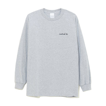 LONG SLEEVE CUT-SEWN E / GRAY (CS-09)