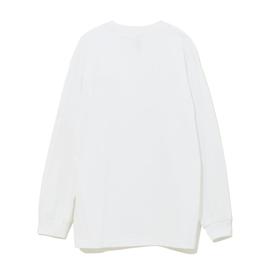 LONG SLEEVE CUT-SEWN E / WHITE (CS-09)