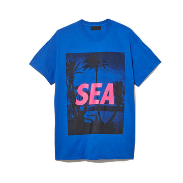 T-SHIRT PALM TREE PHOTO / BLUE (CS-118)