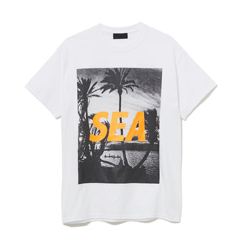 T-SHIRT PALM TREE PHOTO / WHITE (CS-118)