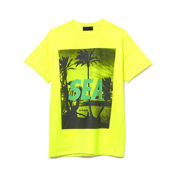 T-SHIRT PALM TREE PHOTO / YELLOW (CS-118)