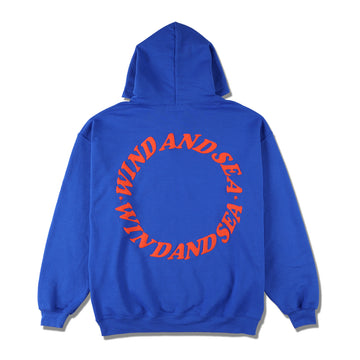 W&S (circle) diff-color HOODIE / BLUE (CS-198)