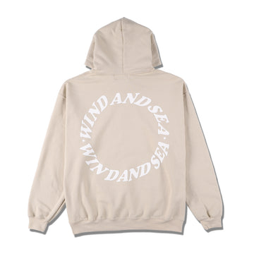 W&S (circle) diff-color HOODIE / SAND (CS-198)