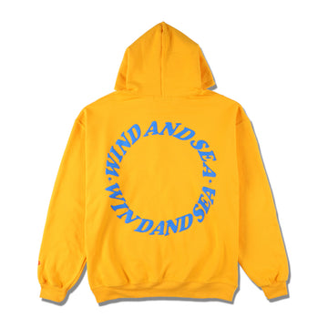 W&S (circle) diff-color HOODIE / YELLOW (CS-198)