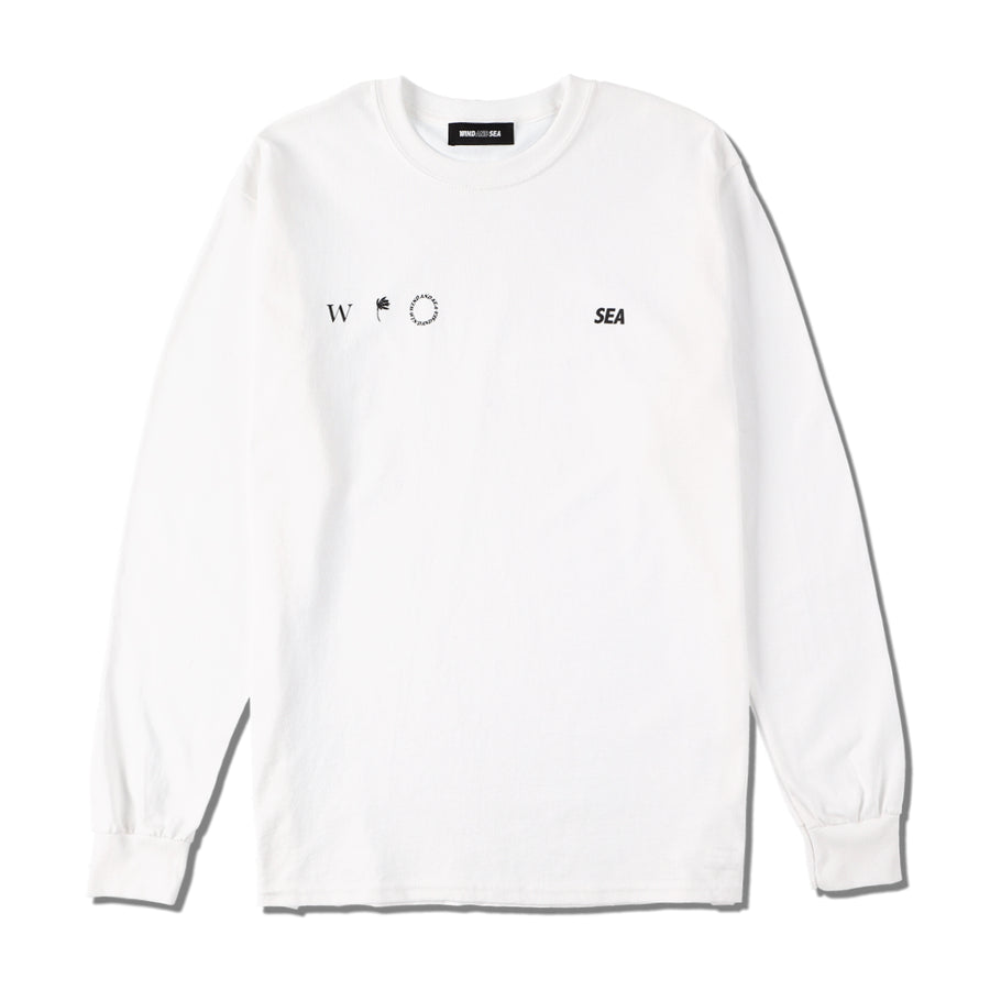 W&S (small-four) L/S T-SHIRT / WHITE (CS-207)