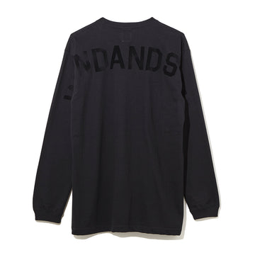 LONG SLEEVE CUT-SEWN F / BLACK×BLACK (CS-37)