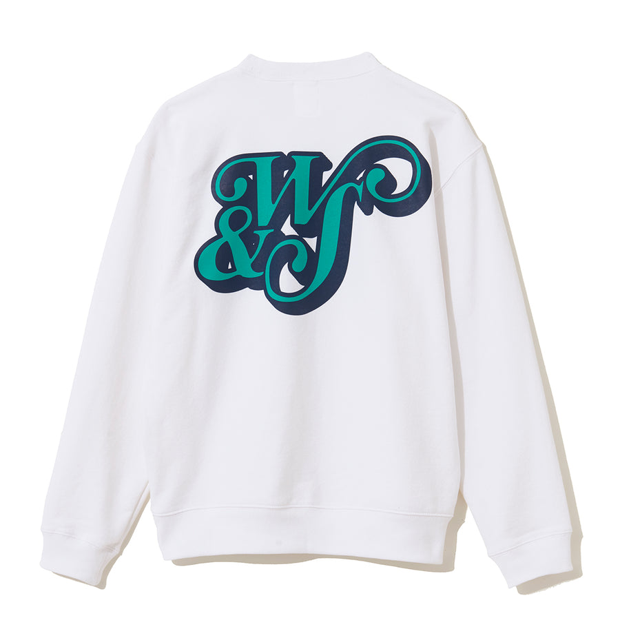 CREW NECK SWEAT N / WHITE (CS-50)