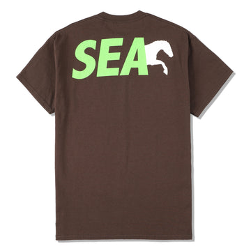 NASU FARM VILLAGE × WDS SAVE THE HORSES T-SHIRT / BROWN (Donation-03-2)