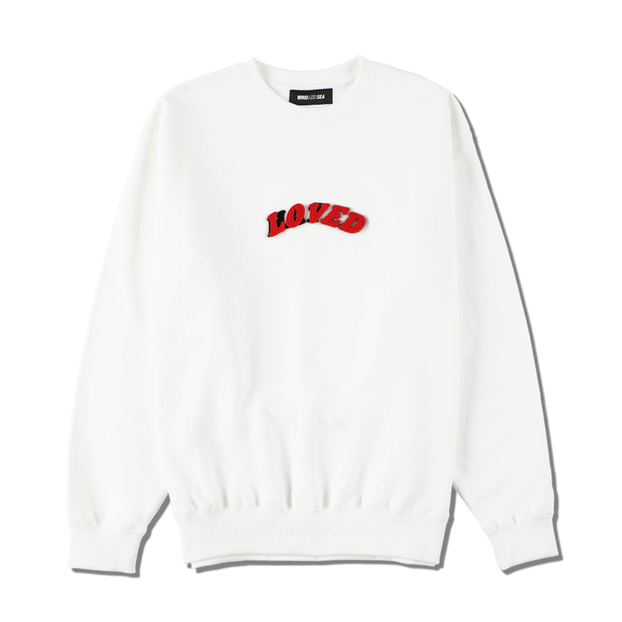W&S (LOVED-HATED) SWEAT / WHITE (LVD-01)