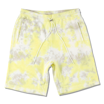 WDS TIE-DYE SWEAT SHORTS / LIME-YELLOW (PT-07)