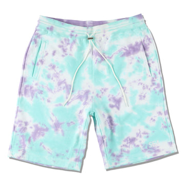 WDS TIE-DYE SWEAT SHORTS / MINT-BLUE (PT-07)