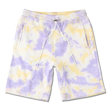 WDS TIE-DYE SWEAT SHORTS / ORCHID-YELLOW (PT-07)