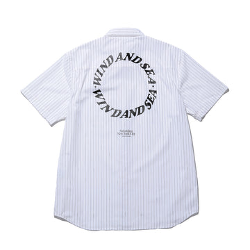 SATURDAYS SURF × WDS NICO LOGO STRIPE / WHITE (SAT-2S-05)
