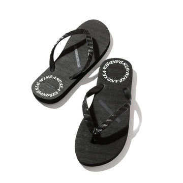 SATURDAYS SURF × WDS BOARD WALK SANDAL / BLACK (SAT-2S-16)