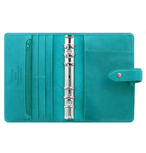 Load image into Gallery viewer, Filofax Malden Personal Kingfisher Leather Organizer Agenda Calendars 2020 Inside View