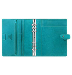 Filofax Malden A5 Kingfisher Leather Organizer Agenda 2020 Diary Inside View
