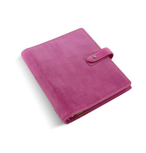 Filofax Malden A5 Fuchsia Leather Organizer Agenda 2020 Diary Side View