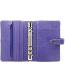 Load image into Gallery viewer, Filofax Malden Personal Iris Leather Organizer Agenda Calendars 2020 Inside View