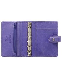 Load image into Gallery viewer, Filofax Malden Pocket Iris Leather Organizer Agenda Calendars 2020 Inside View