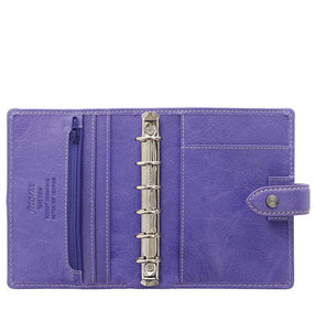 Filofax Malden Pocket Iris Leather Organizer Agenda Calendars 2020 Inside View