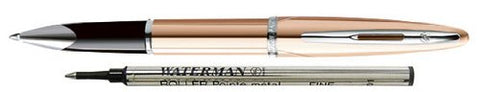 Waterman Carene Pink Gold Meridian With 2 Free Rollerball Refills Rollerball Pen - 1743548 - PensAndLeather