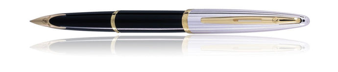 Waterman Carene Deluxe Black Lacquer/Silver Fountain Pen Fine Nib 11200W2